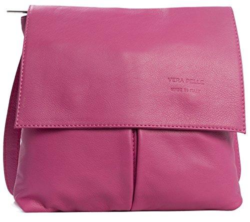 hombro cuero Brillante hombre Shop Handbag Bolso para One de Big Rosa al PxqpITYC