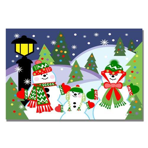 Trademark Fine Art Let it Snow by Grace Riley Canvas Wall Art, 35x47-Inch