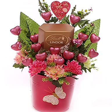 Valentine S Day Chocolate Bouquet With Chocolate Hearts And Lindt