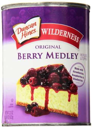 Wilderness Original Pie Filling & Topping, Berry Medley, 22 Ounce (Pack of 12)