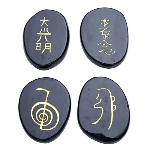 JOVIVI Healing Crystals Engraved Symbols
