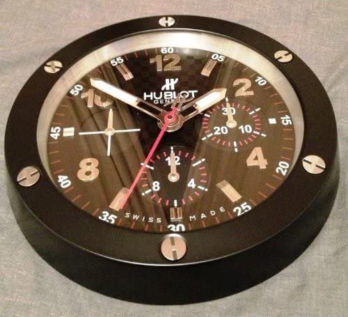 hublot dealer display wall clock: Amazon.co.uk: Lighting