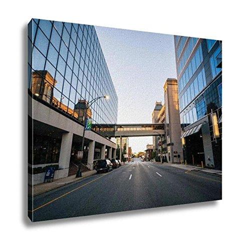 Ashley Canvas, Modern Buildings And Friendly Avenue In Downtown Greensboro No, 24x30, - The Center Greensboro Friendly