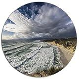Designart Stunning South Africa Sea Coast Seashore Large Metal Wall Art, 11 x 11, White