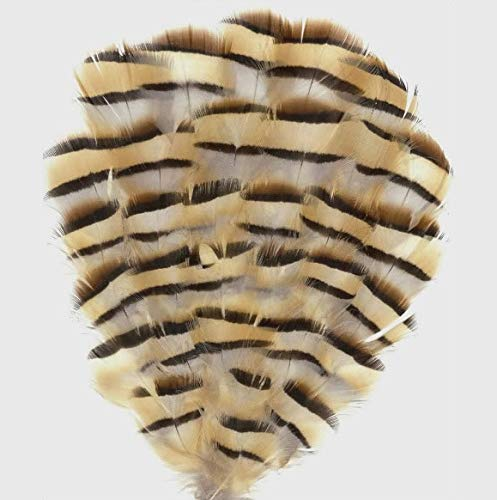 Maslin 100pcs 4-8cm Real Natural chukar Partridge Pheasant Craft Feathers Plumage for Jewelry Dress Cloth Bulk Sale Fly Tying ()