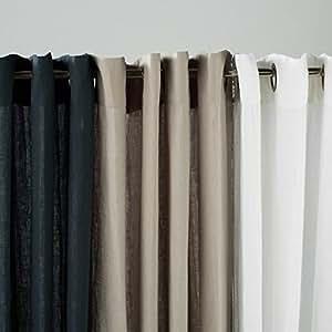 Julia M Fuller Vintage Washed Belgian Linen 2 Set Curtain Panel With Grommets