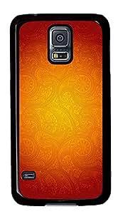 Samsung Galaxy S5 Orange Patterns PC Custom Samsung Galaxy S5 Case Cover Black