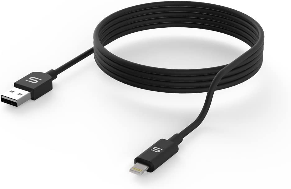 SoMi Apple MFi Certified 4 FT Lightning Cable 8-Pin to USB A Data Sync Cable Fast Charging Cord, Reversible for iPhone X/8 Plus/8/7/7 Plus/6s/6s Plus/6/6 Plus/5/5S/5C/SE/iPad Air/Mini, iPod (Black)