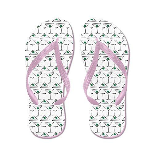 CafePress Martini - Flip Flops, Funny Thong Sandals, Beach Sandals Pink