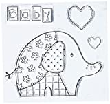 "Woodware Clear Stamps 3.5""X3.5""-Baby Patch Elephant"