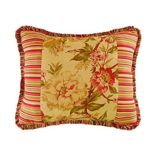 C&F Home Floral Stripes Pieced Pillow 15 x 18 Red [並行輸入品] B07R6YB1HB