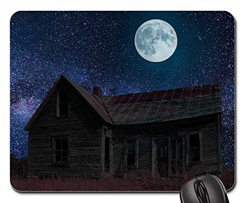 Mouse Pad - Abandoned Haunted Ghost Horror Moon