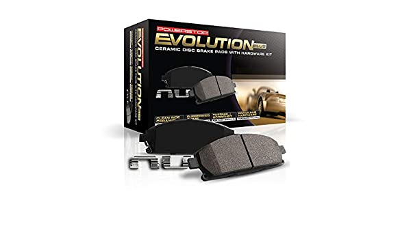 Power Stop 17-1866 Z17 Front Ceramic Brake Pads with Hardware