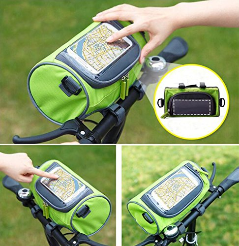 Handlebar Bag, NTMY Waterproof Bicycle Bag with Transparent PVC Pouch and Removable Shoulder Strap …
