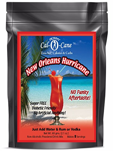 - Skinny Cal-O-Cane (TM) Zero Calorie All Natural New Orleans Hurricane Cocktail Mix, 8 Servings