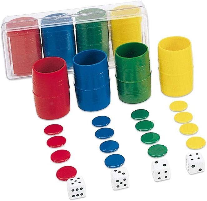 Cayro - Accesorios de Parchís 4 Jugadores - Juego de Tradicional - Juego de Mesa - Desarrollo de Habilidades cognitivas - Juego de Mesa (074/1): Amazon.es: Juguetes y juegos