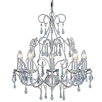 Satin silver chandelier ceiling light fittings with glass dressing satin silver chandelier ceiling light fittings with glass dressing amazon kitchen home mozeypictures Images