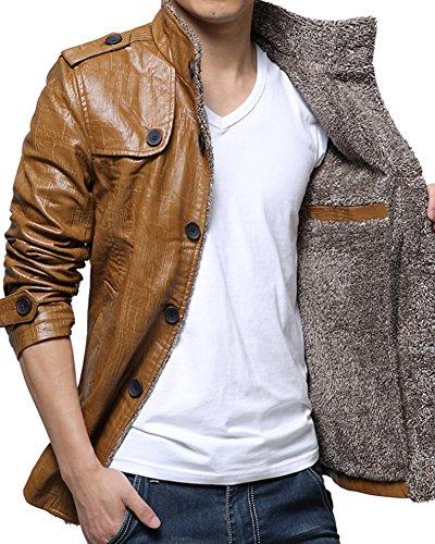 Abbronzatura Caldo Spesso Giacca Di Invernali Uomo Pelle Giacconi Cappotto Giaccone zqU7wvBxa