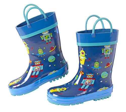 (Stephen Joseph Boys' Rain Boots, Robot, 9)