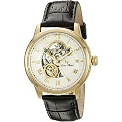 Lucien Piccard Men's LP-12524-YG-02 Optima Analog Display Automatic Self Wind Black Watch