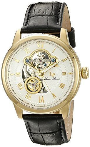 Lucien Piccard Men's LP-12524-YG-02 Optima Analog Display Automatic Self Wind Black Watch (Lucien Piccard White Wrist Watch)