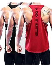 Heren 1 ~ 3 Pack Droge Fit Y-Back Gym Spiertank Mesh Mouwloos Top Fitness Training Koele Droge Sporttraining