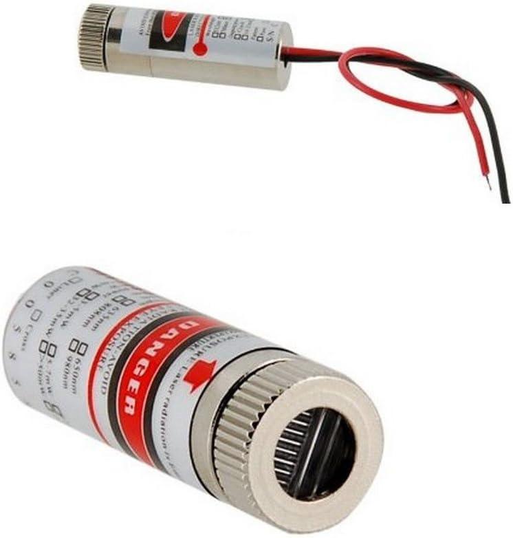 1pcs Focusable 5mW 650nm Red Cross Line Laser Module Focus Adjustable laser Head
