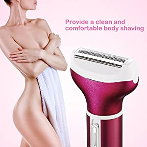 4 in 1 Women Shaver, [USB Charging] Electric Bikini Trimmer/Lady Shaver/Nose Hair Trimmer/Eyebrow Trimmer/body Shaver Rechargeable Wet/Dry Use for Face Legs Arms Bikini with Smooth Glide Technology