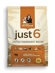 Rachael Ray Nutrish Just 6 Natural Dry Dog Food, Lamb Meal & Brown Rice Recipe