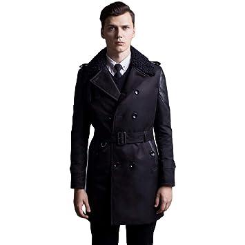 MERRYHE Moda para Hombre Chaquetas Acolchadas Collar De Piel Abrigos De Invierno Abrigo Cruzado A Prueba De Viento Cálido Prendas De Vestir Exteriores Ropa ...