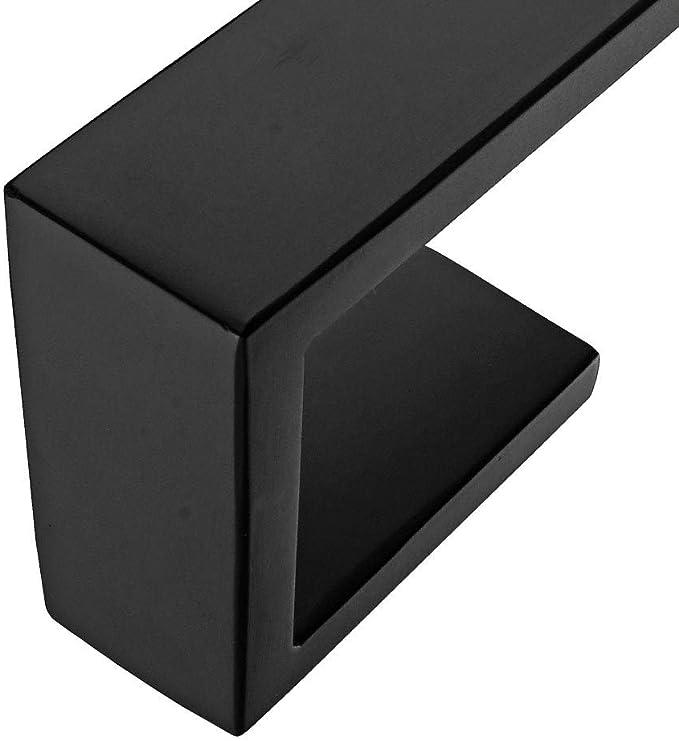 acabado negro Homovater Aspiraci/ón Porta rollos de inodoro Montado en la pared Autoadhesivo 304 Portapapel de acero inoxidable Accesorio de ba/ño Dispensador de toallas 3M Stick