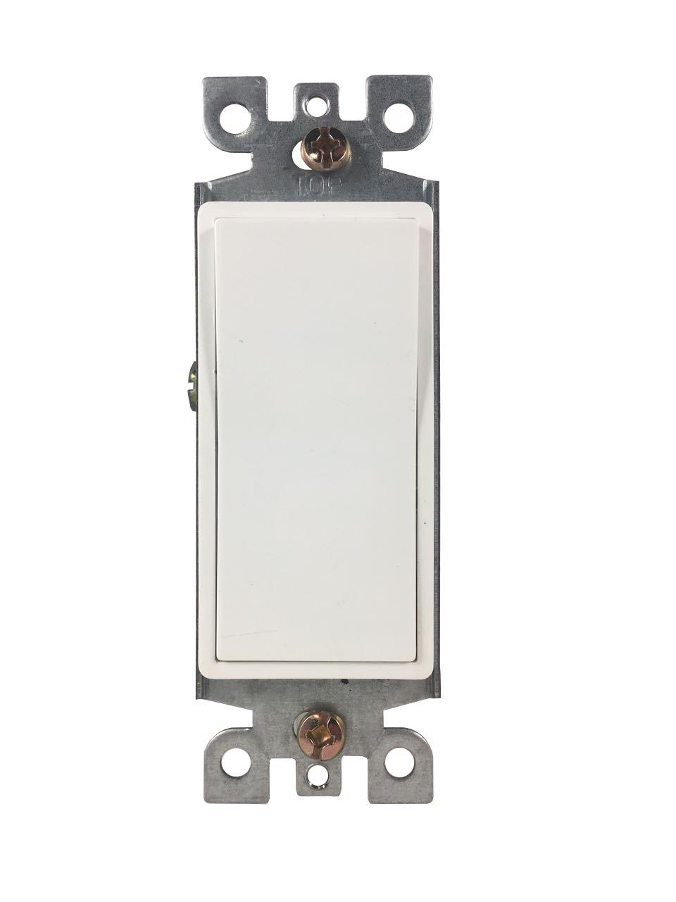 BYBON 15A Single Pole Decorative light Switch,White,UL Listed (10 Pack)