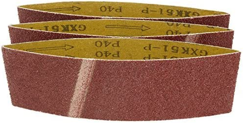 - Aluminum Oxide Sanding Belt, 40-Inch Joint und 18 In, 40 In, 3 Pieces