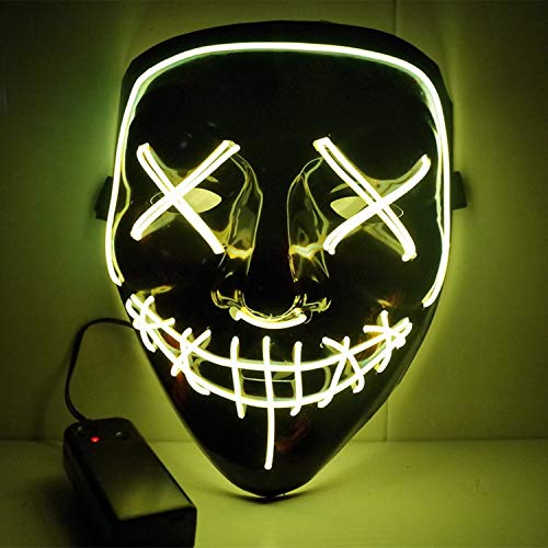 LED Light Mask Up Funny Mask from The