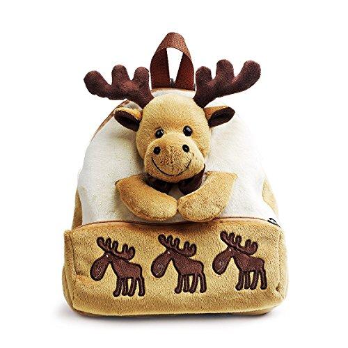 (Bear of Allan 3D Stuffed Animal Backpack 11.8 Inch (Gold Moose))
