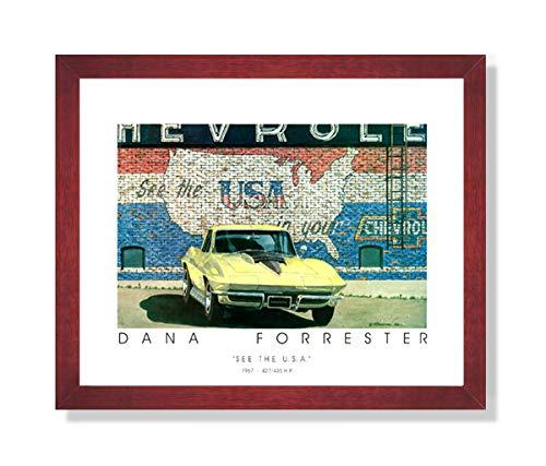 Forrester Chevy Corvette Car Picture Framed Art - Chevy Framed