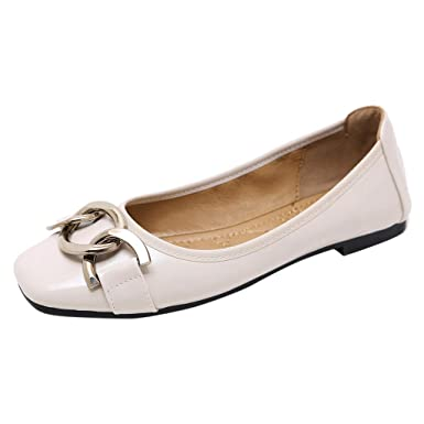 Amazon.com: Cywulin Womens Comfortable Pointy Toe Slip On Ballet Flat Shoes Fashion Casual Pumps Dress Shoes Loafer Ballerina Moccasins: Clothing