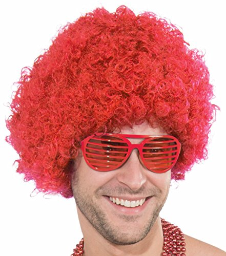 Forum Novelties Unisex Afro/Clown Wig,  Red, One
