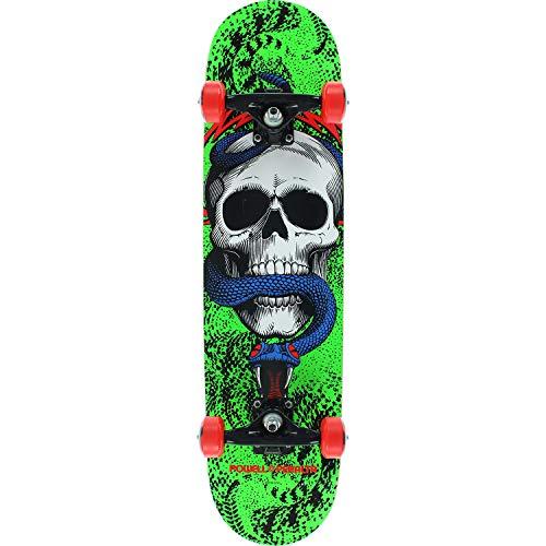 Blue Skull Skateboard - Powell-Peralta Skull & Snake Green/Black / Blue Complete Skateboard - 7.75