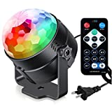 : Sound Activated Party Lights with Remote Control Dj Lighting, RBG Disco Ball, Strobe Lamp 7 Modes Stage Par Light for Home Room Dance Parties Birthday DJ Bar Karaoke Xmas Wedding Show Club Pub