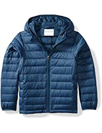 Boys' Lightweight Water-Resistant Packable Hooded Puffer Jacket