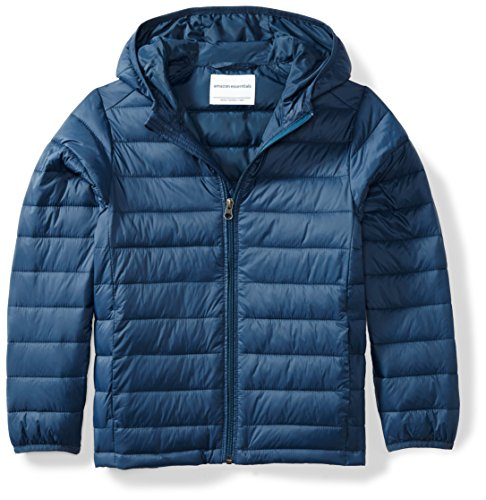 Amazon Essentials Boys' Light-Weight Water-Resistant Packable Hooded Puffer Jacket