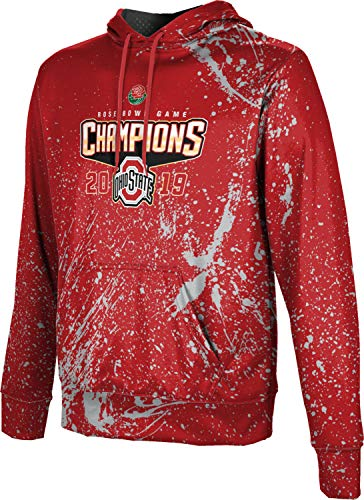 (Rose Bowl Champions 2019 - Ohio State University Men's Pullover Hoodie, School Spirit Sweatshirt (Splatter) FF2E)