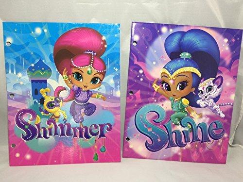 (Set of 2 Shimmer and Shine Folders (2 Pockets, 3 Rings) - Disney)