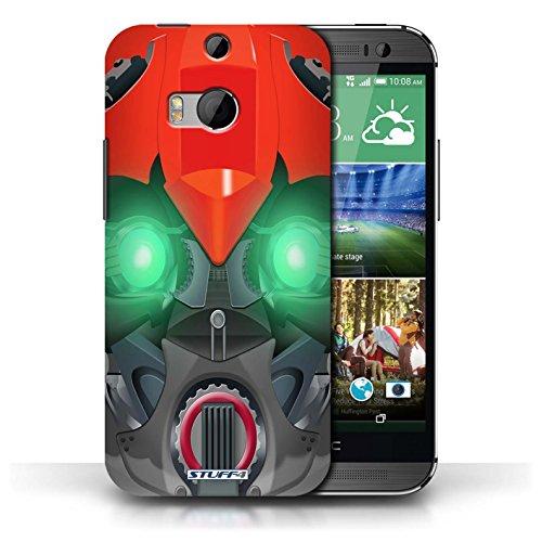 Etui / Coque pour HTC One/1 M8 / Bumble-Bot Rouge conception / Collection de Robots