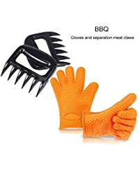 Want 1 Set Ticent Silicone BBQ/Cooking Gloves + 1 Set Meat Shredder/ Pulled Meat Separate Pork Claws Set, Barbecue... opportunity