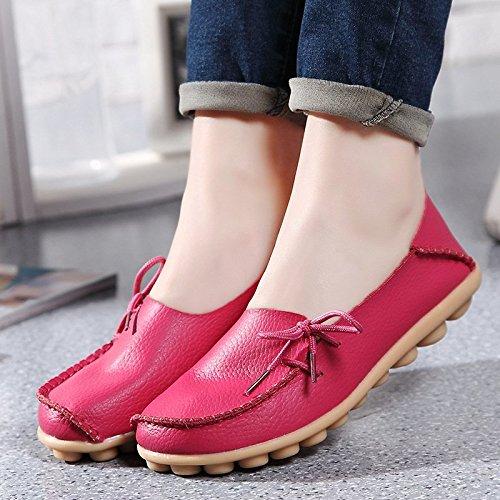 loisirs Mocassins Rouge Rose Femmes Plates Loafers Chaussures Ilory En Cuir Conduite De Confort Couleurs 16 wRqdnE6O6C