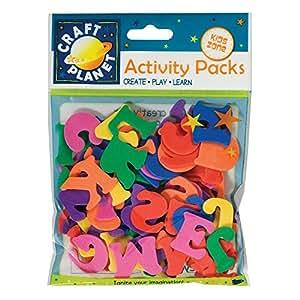 Craft Planet - Pack de letras para manualidades (gomaespuma, 25 mm), varios colores