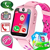 Kid Smart Watch GPS Tracker Wrist Phone Game Watch for Kids Child Boys Girls SOS Anti-Lost Alarm Remote Monitor with SIM Card Compatible for iOS Android Touch Screen Birthday Gifts (Green)
