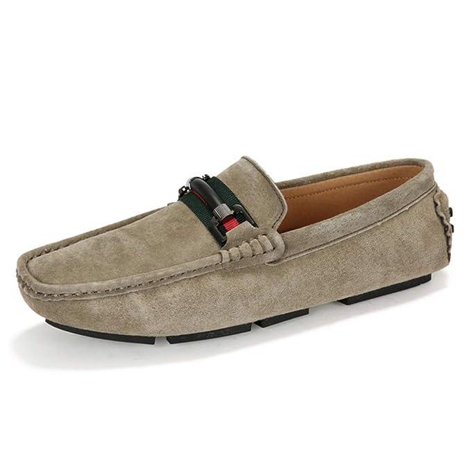 ... Resbalón En El Trabajo Formal De Negocios Mocasines Cómodos Costura A Mano Antideslizante Caminando Zapatos Para Botes: Amazon.es: Ropa y accesorios